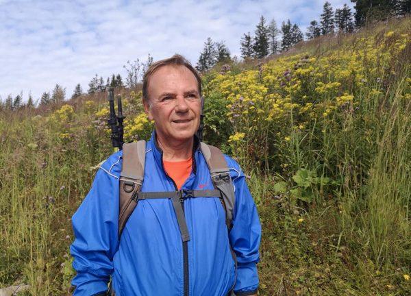 Gerald Bischof privat beim Wandern